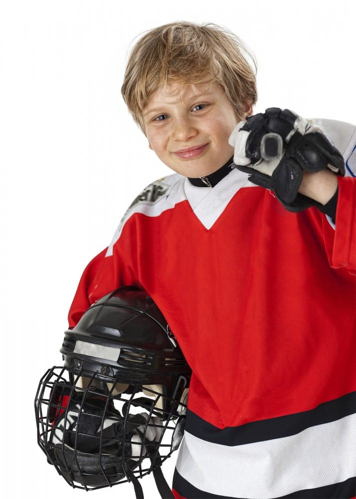 Midget hockey player