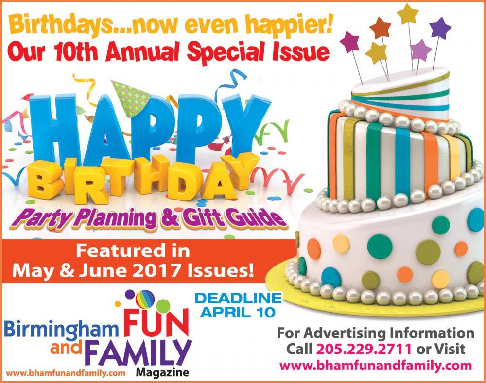 Birthday Party Listings Form 2017 Birmingham Fun and Family Magazine